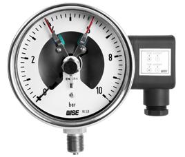 Đồng hồ đo áp có tiếp điểm điện Wise P500 - Wise Vietnam